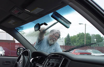 clean windshield